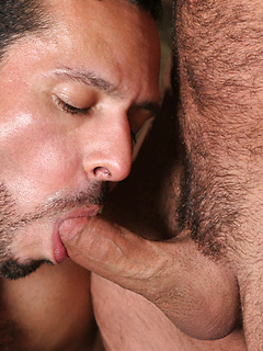 Two muscular studs Adam and Vince plow each other's tight assholes with force