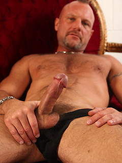 Hunky gay daddies with rock hard bodies and big cocks give us hot views of their erections