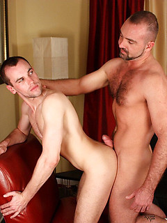 Horny guy named Kain loves riding on top of his man Josh's thick member