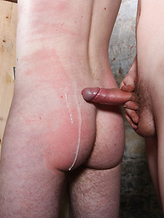 Bound twink whipped hard on his back and tight ass in the dungeon