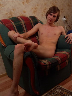 Smooth and sexy Euro twink boy takes his time stripping to expose his cock to you