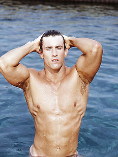 Vintage gay shots of seriously hunky guys with great pecs and tight abs
