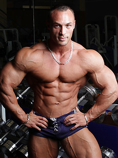 Body building has made Ludovic Bogaert a perfect specimen of the male form