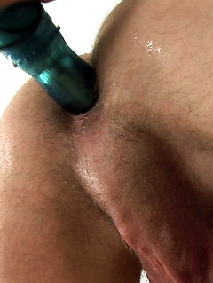 Toys are his best friend as filling his asshole with a dildo makes the cutie cum