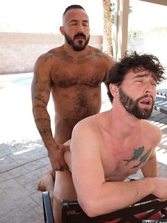 Handsome stallion loves it when his hairy boyfriend pummels his tight asshole