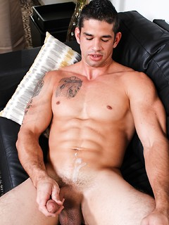 Posing got Jason Richards exhausted so he got naked and started jerking off