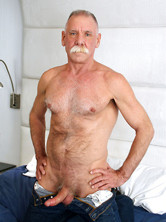 Older dude loves nothing more than stripping and exposing his long shaft