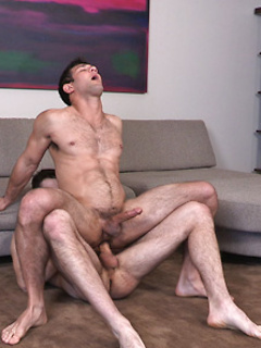 Naughty gay guy makes a horny friend moan by fucking his tight asshole