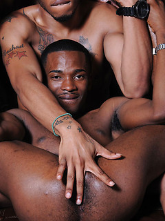 Big black cocks orally pleasured by black gay mouths that suck with skill