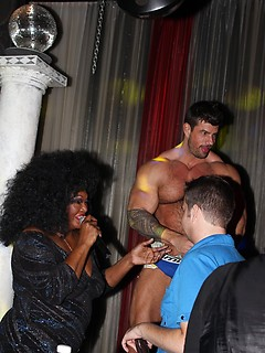 Strong Zeb Atlas likes to dance on the stage while people throw money at him