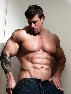 Strong dude Zeb Atlas gets naked and shows off his body in the shower