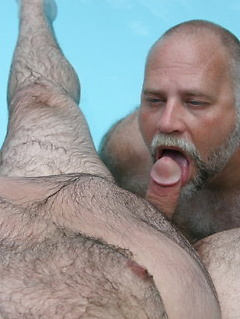 Two horny and hairy bears get to pleasure each other's pulsating meat poles