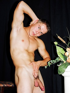 Naughty dude takes off the clothes so he can play with his erect shaft