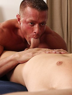 Two horny and athletic dudes get to make each other's stiff cocks cum hard
