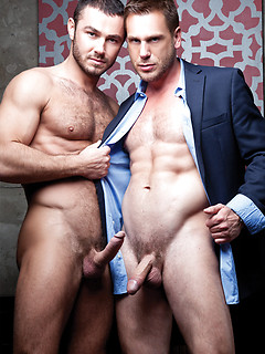 Hans Berlin allowed his hung boss Jessy Ares to screw him in the office