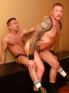 Daddies Matt Sizemore and Clark Longhammer get into fierce ass fucking