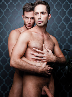 Michael Lucas and Demian Holt get to pleasure their big and quivering members