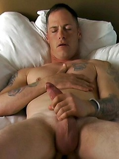 Only one thing pleases this dude, and that is jerking his cock until he cums