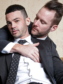 After work stress relief with two gay hunks includes beautiful anal sex