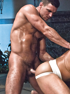 Flawless hunks get naked for each other and fuck with perfect passion