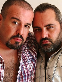 Two perfect gay bears in a hot ass licking and cocksucking session