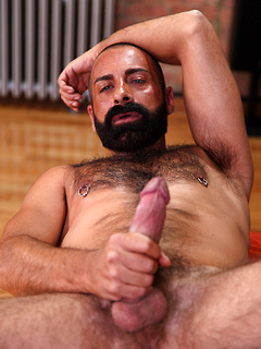 There's nothing as good for this horny dude as playing with his stiff dick