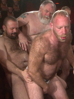 Intense orgy in the dungeon with a bunch of extremely horny and hung dudes