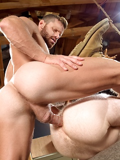 Muscular stallion Landon Conrad loves pounding the ass of Seamus O'Reilly
