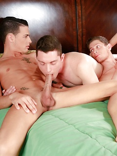 Scott Bridgeton and Zander Williams have a threesome session with another dude