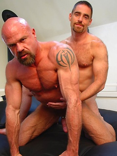 Hard and hot daddies get nasty with each other in a sucking and barebacking scene
