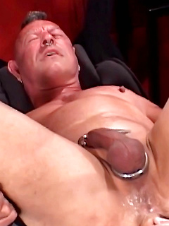 Bearded stallion simply loved fisting his boyfriend's raw asshole in the dungeon