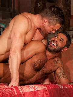 Muscular guys with big cocks blow each other and have intensely arousing anal sex