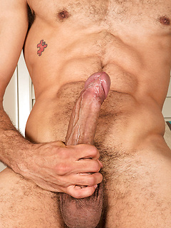 Hot abs and a big uncut cock on this sexy Latino gay guy Cailean