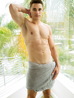 Edin is a super fit young hunk with sculpted arms and a six pack and he enjoys stripping