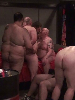 Amateur fat gay bears have an all out orgy with the finest ass fucking